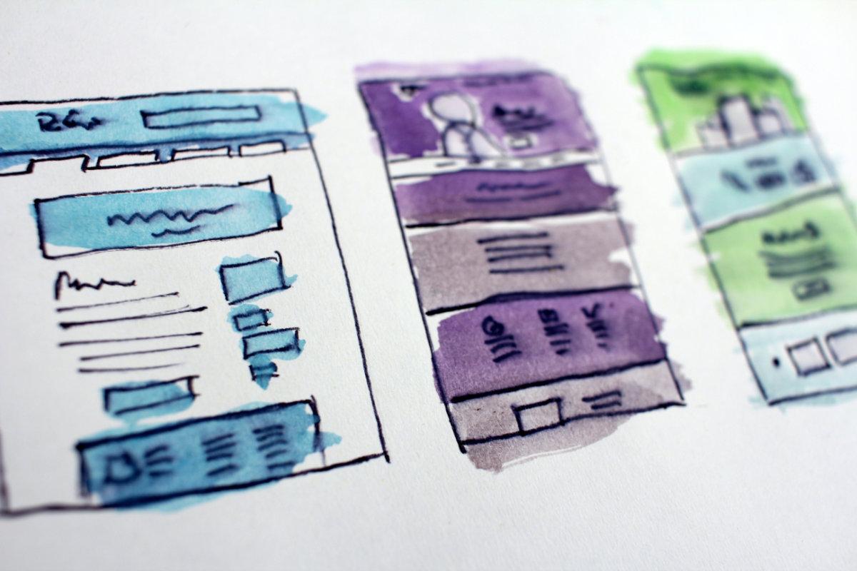 layout sito web architettura struttura opera creativa copyright